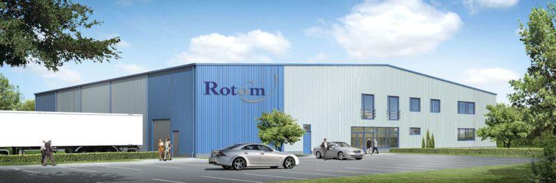 Bedrijfshal voor de Nederlandse firma Rotom Polska Sp. z o.o. in Polen