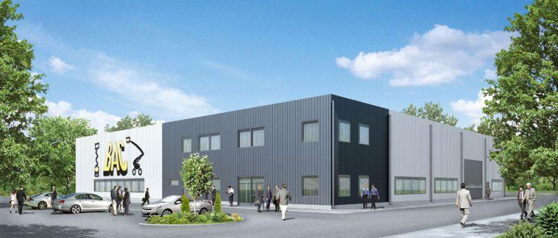 Bouw van een magazijn met werkplaats en sociale ruimte en kantoorgedeelte voor het Nederlands bedrijf BAC INVESTMENT POLSKA sp.zo.o.