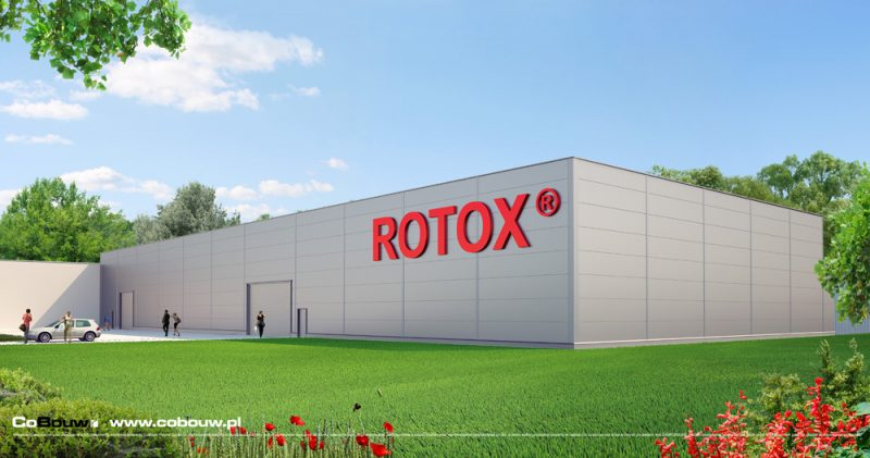 De bouw van een productiehal voor Firma Rotox sp.zo.o.