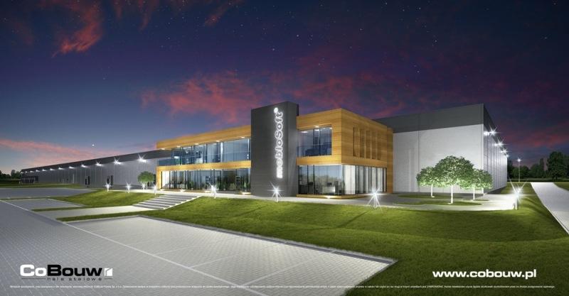 Alles-omvattende bouw van een kantoorgebouw voor Meblosoft