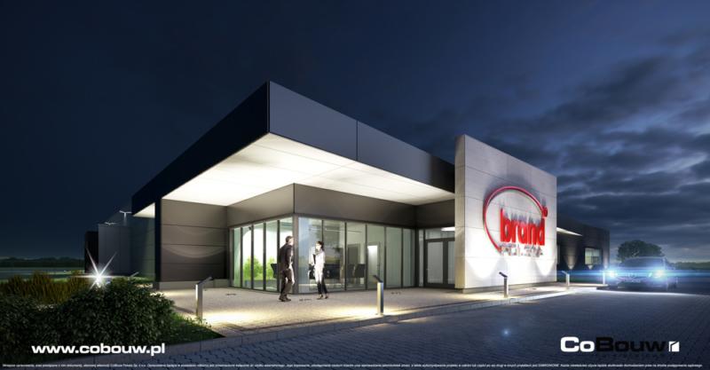 Hoofdaanneming van de bouw van een hal voor Brand Polska Sp. z o.o.