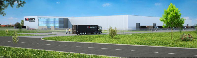 Bouw voor de Belgische firma BLYWEERT ALUMINIUM sp.zo.o.