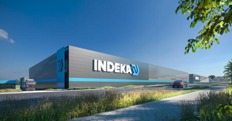 Hoofdaanneming bij de bouw van een magazijn voor Indeka Logistic City Sp. z o.o.