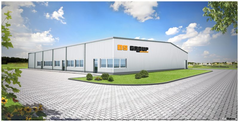 De bouw van een productie- en opslaghal voor de firma DS GROUP