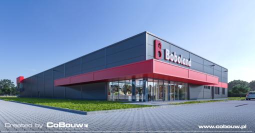 Hoofdaanneming van de bouw van een verkoopshal voor Boboland