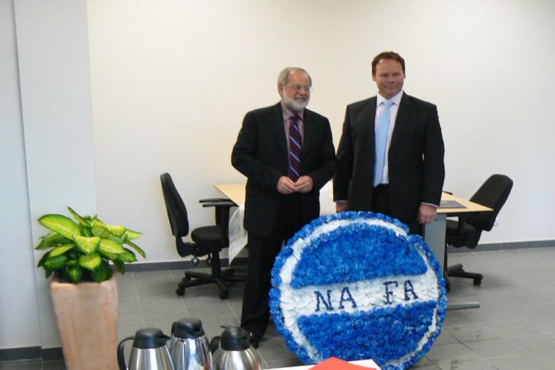 Officiële opening van de nieuwe vestiging van de firma NAFA