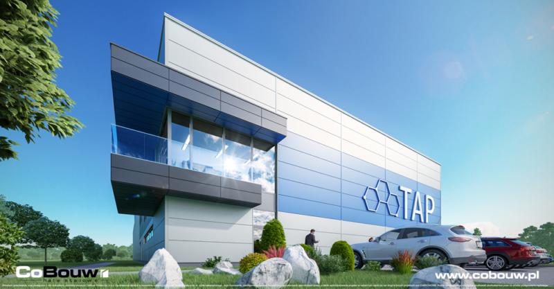 Kant-en-klare stalen hal voor het productiebedrijf TAP Kutno